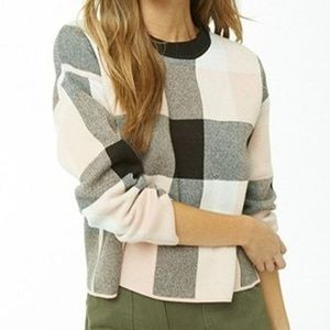 Forever 21 Multicolor Plaid Sweater